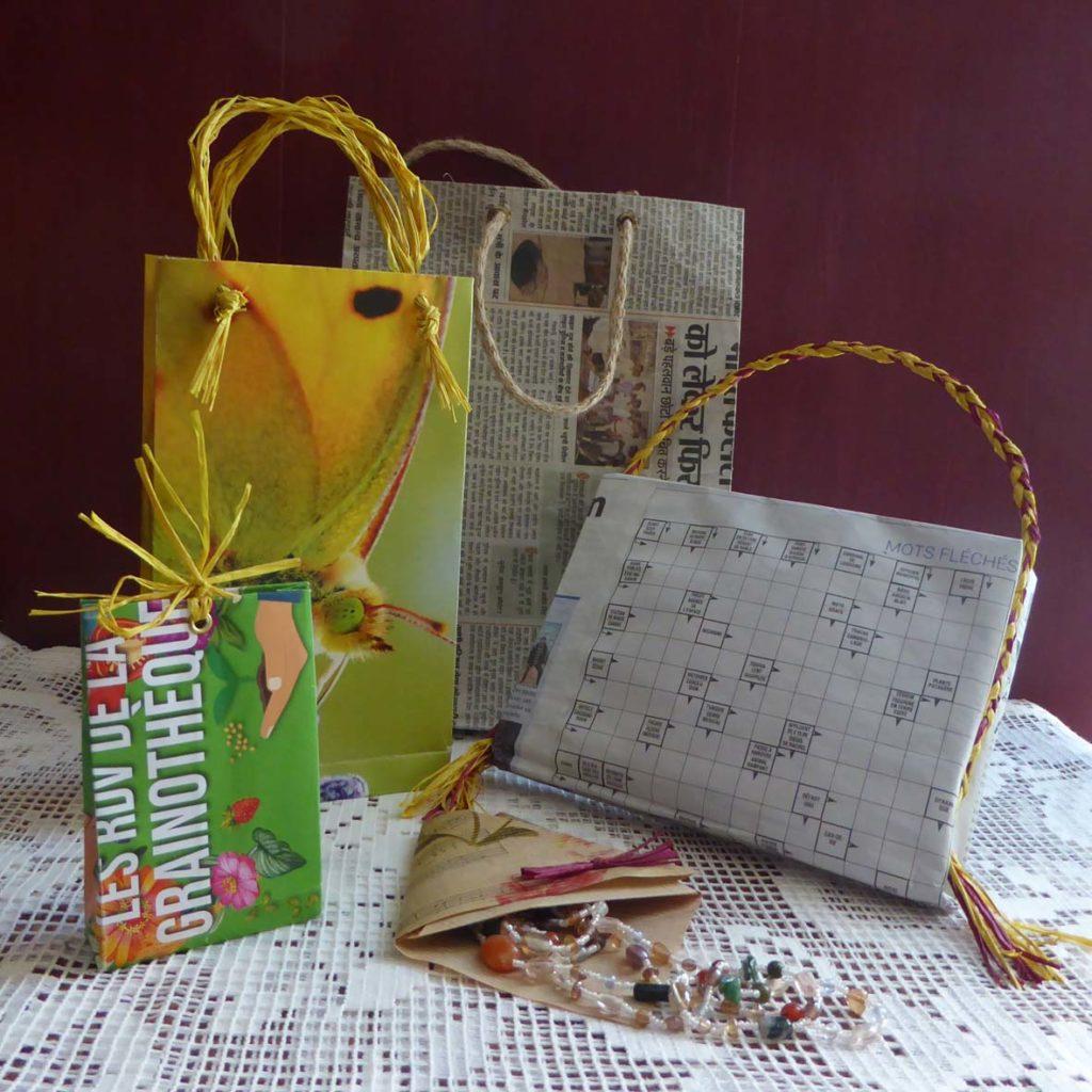 Atelier ZÉRO DÉCHET - Sacs et pochettes cadeaux @ Serre Spiruline de Provence